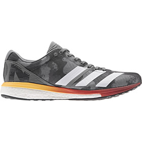 adidas Adizero Boston 8 Low-cut Kengät Miehet, grey four/footwear white/flash orange